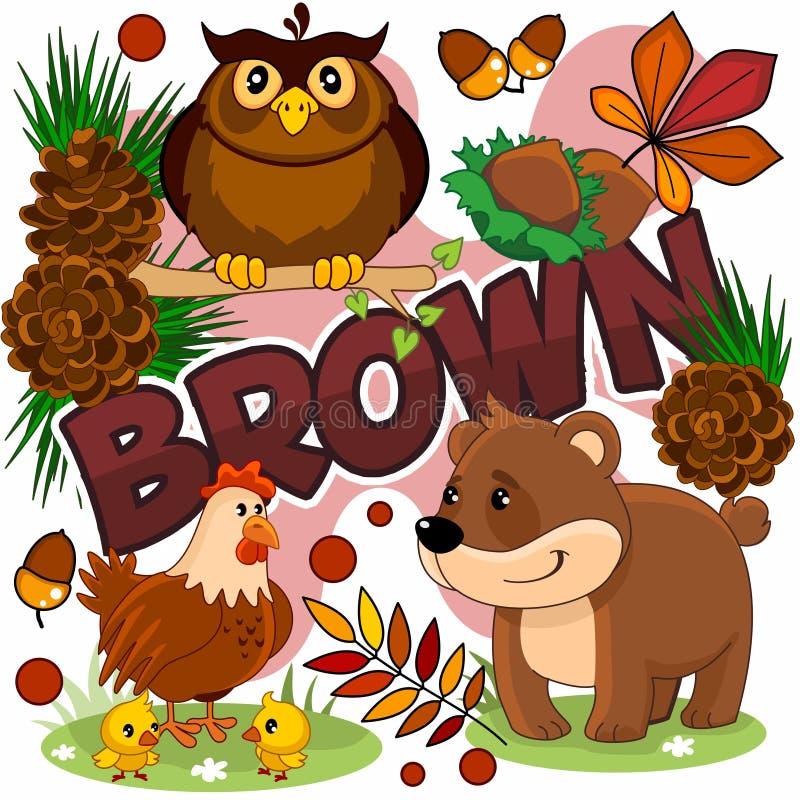 Иллюстрация коричневого цвета бесплатная иллюстрация