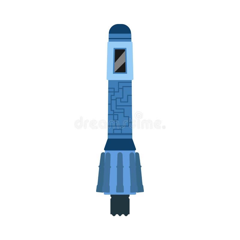 Иллюстрация космоса астрономии значка вектора спускаемого аппарата Перемещение космоса ракеты луны Исследование повреждает открыт бесплатная иллюстрация