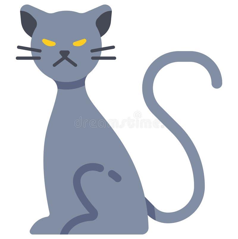 Иллюстрация кота призрака плоская иллюстрация вектора