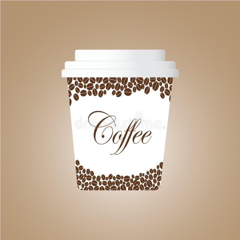иллюстрация кофейной чашки предпосылки коричневая бесплатная иллюстрация