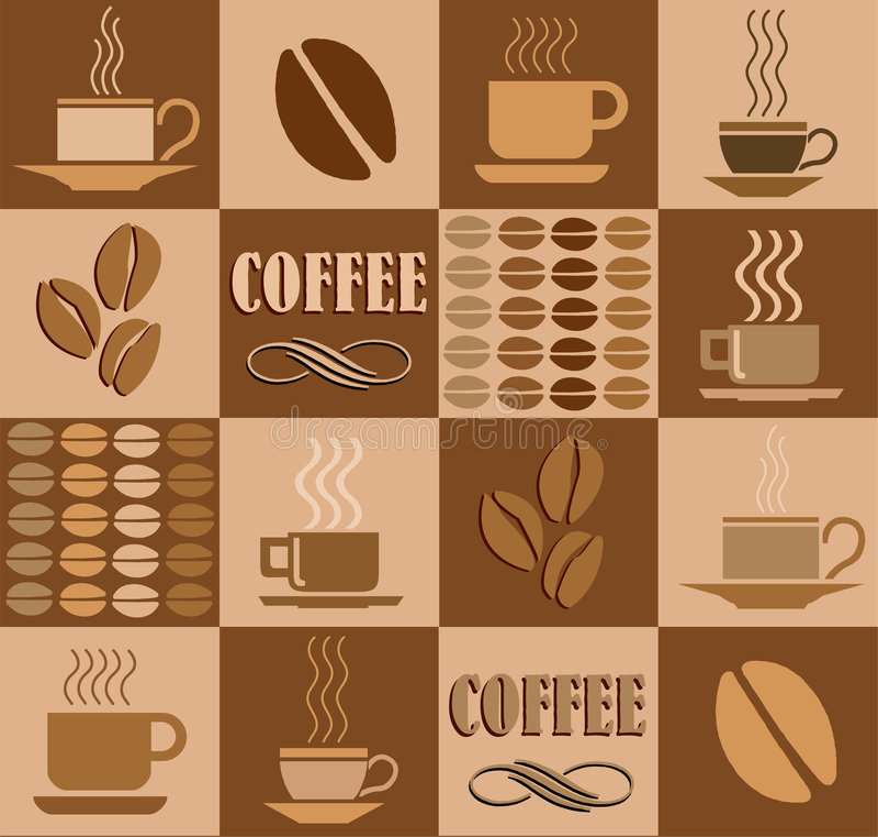 иллюстрация кофе отнесла иллюстрация вектора