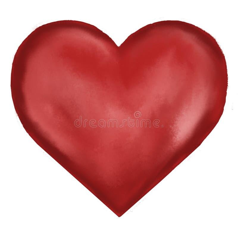 Иллюстрация красного сердца стоковые изображения rf