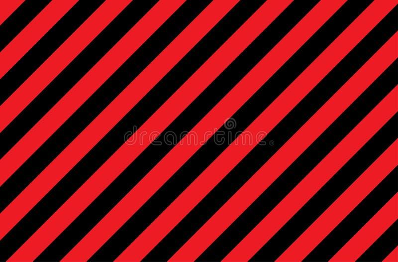 Иллюстрация красных и черных нашивок символ опасных и радиоактивных веществ Образец широко использован в индустрии стоковое фото