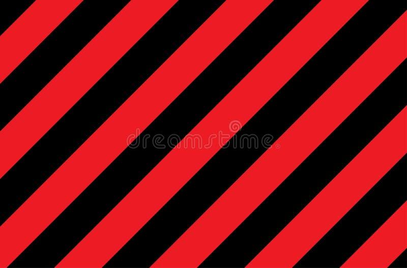 Иллюстрация красных и черных нашивок символ опасных и радиоактивных веществ Образец широко использован в индустрии стоковое изображение rf