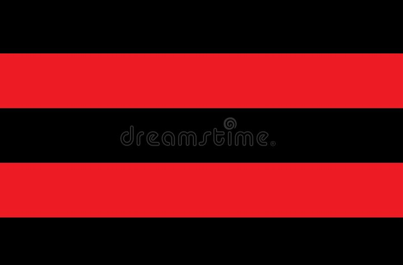 Иллюстрация красных и черных нашивок символ опасных и радиоактивных веществ Образец широко использован в индустрии стоковые изображения