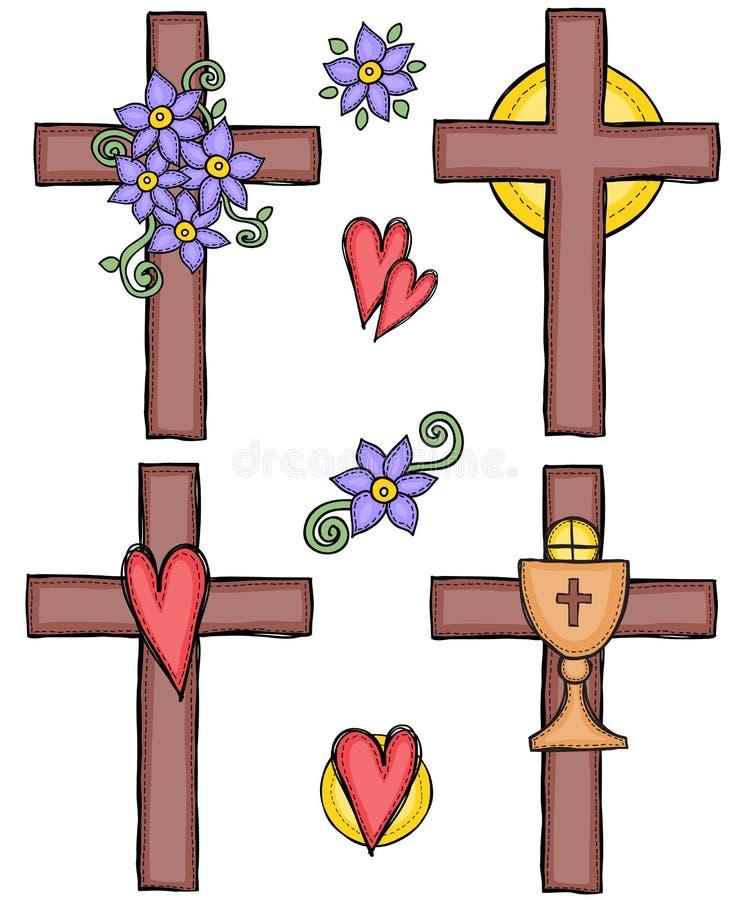 Иллюстрация крестов иллюстрация вектора