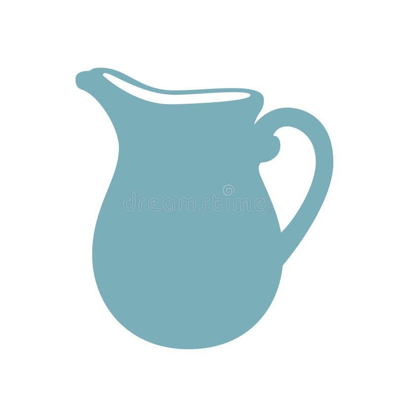 Иллюстрация кувшина молока Значок кувшина молока плоский иллюстрация штока