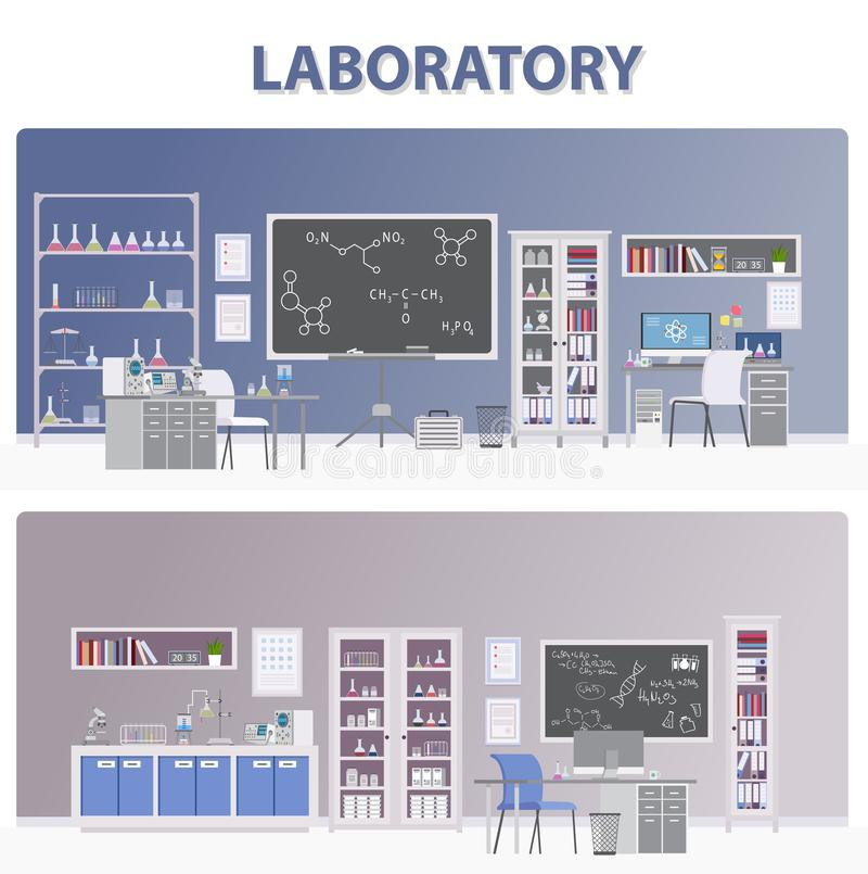 Иллюстрация лаборатории медицинская - Вектор стоковая фотография rf