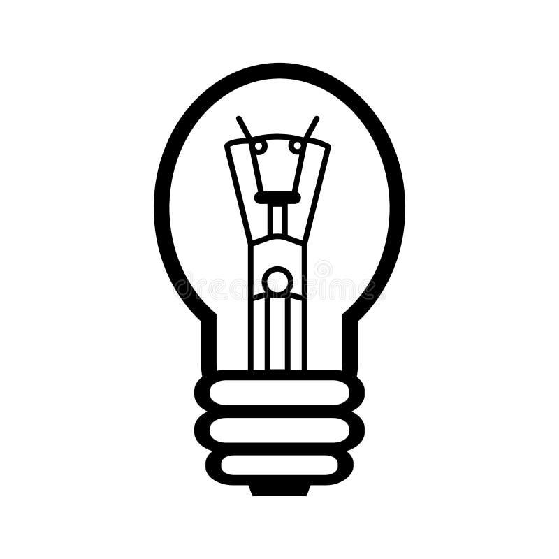 Иллюстрация лампы накаливания иллюстрация вектора