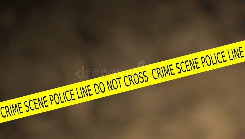 Иллюстрация линии полиции места преступления не пересекает иллюстрация штока
