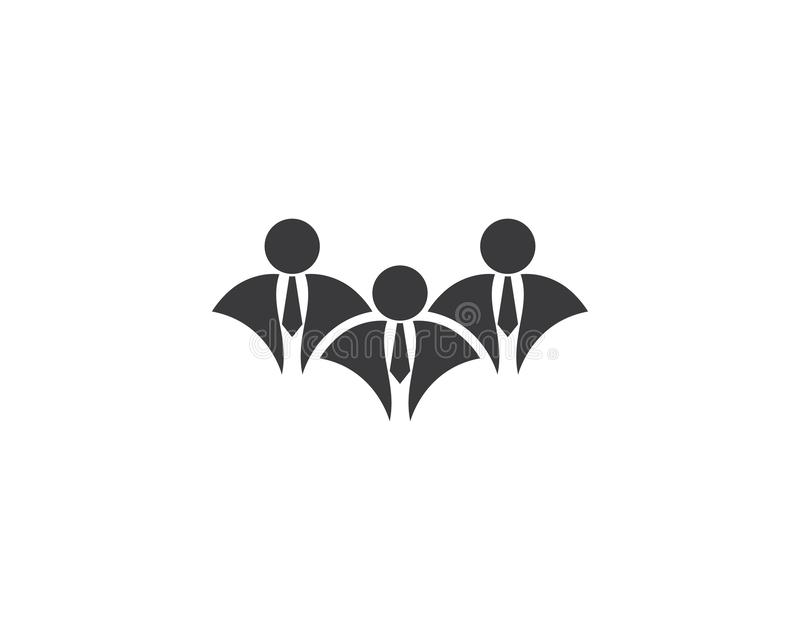 Иллюстрация логотипа бизнесмена иллюстрация штока