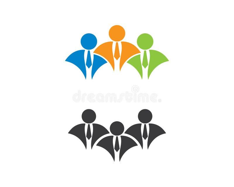 Иллюстрация логотипа бизнесмена бесплатная иллюстрация