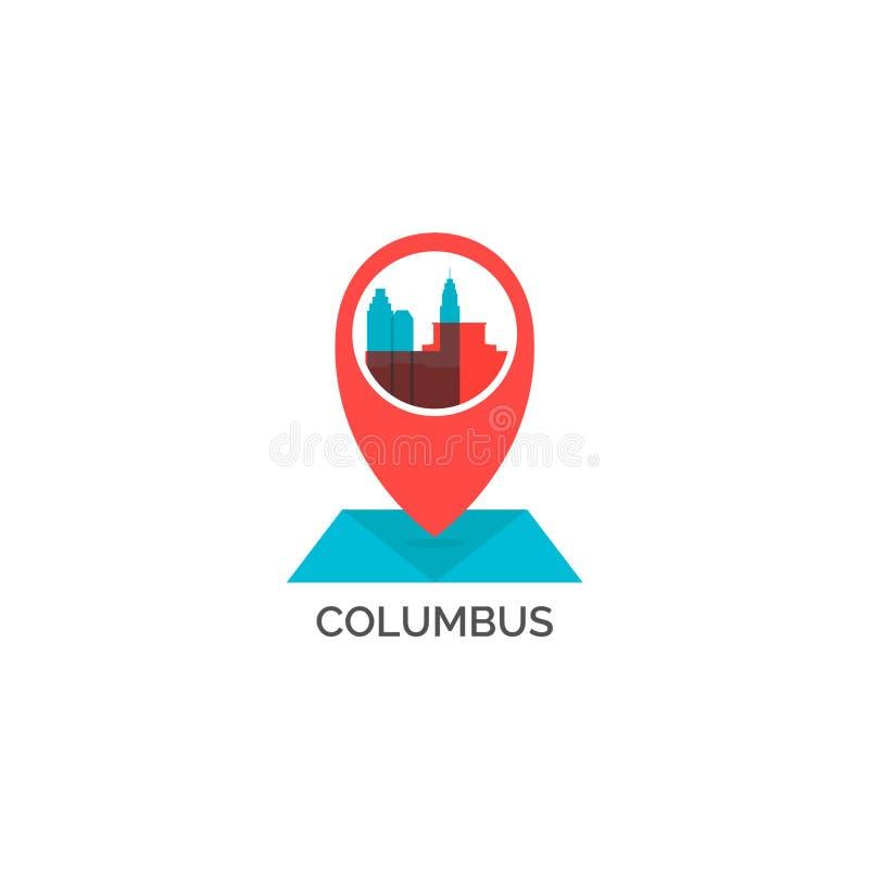 Иллюстрация логотипа вектора силуэта горизонта города Далласа бесплатная иллюстрация