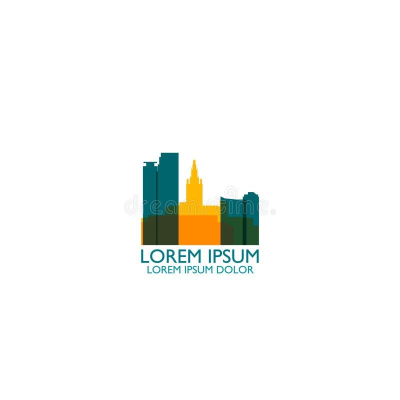 Иллюстрация логотипа вектора силуэта горизонта города Майами иллюстрация вектора