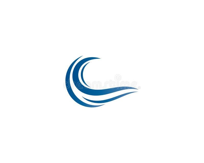 Иллюстрация логотипа волны воды иллюстрация вектора