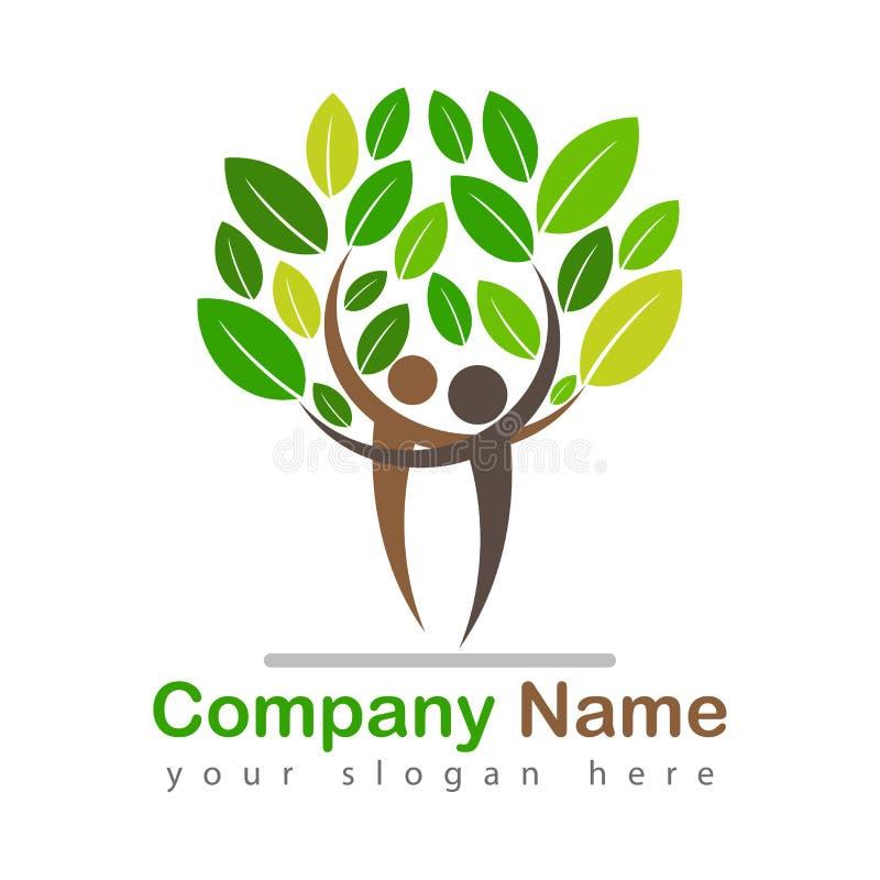 Иллюстрация логотипа фамильного дерев дерева красивая иллюстрация штока