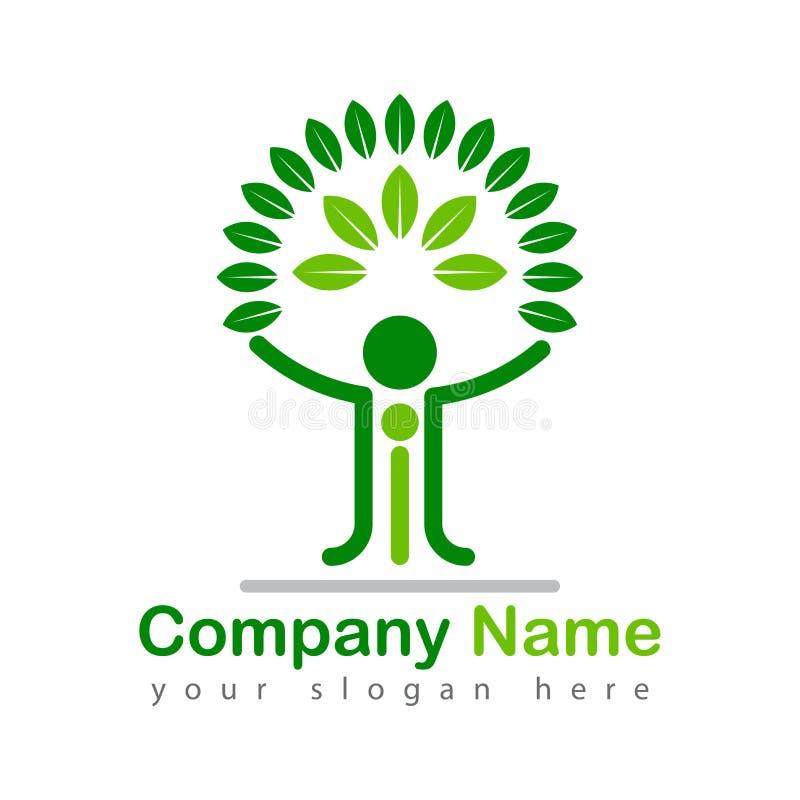 Иллюстрация логотипа фамильного дерев дерева красивая иллюстрация вектора