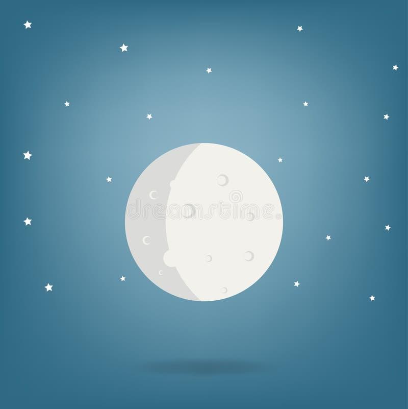 Иллюстрация луны - вектор чертежа шаржа луны иллюстрация штока