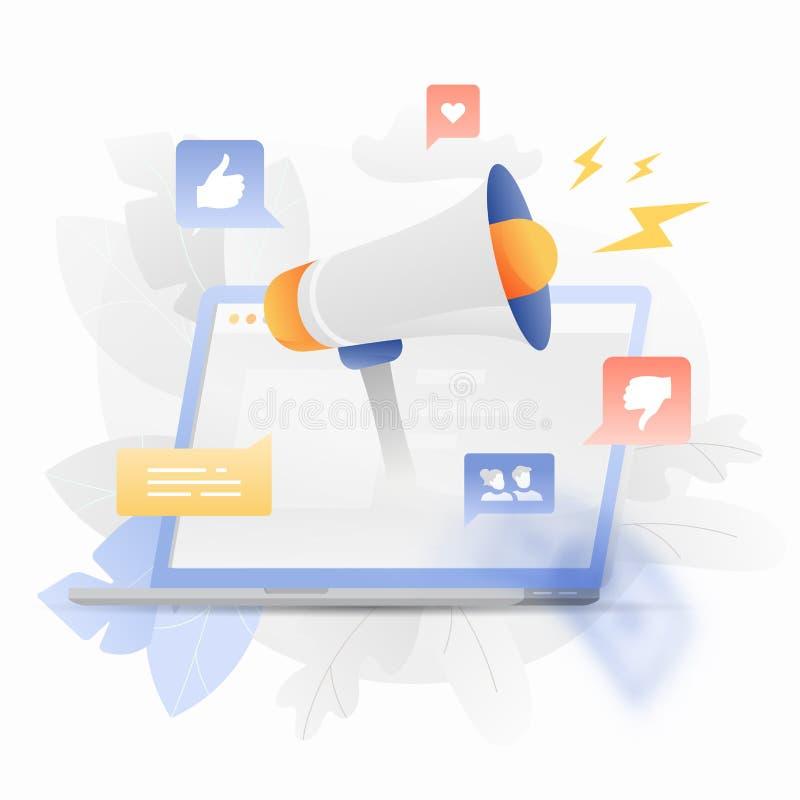 Иллюстрация маркетинга цифров творческая иллюстрация штока
