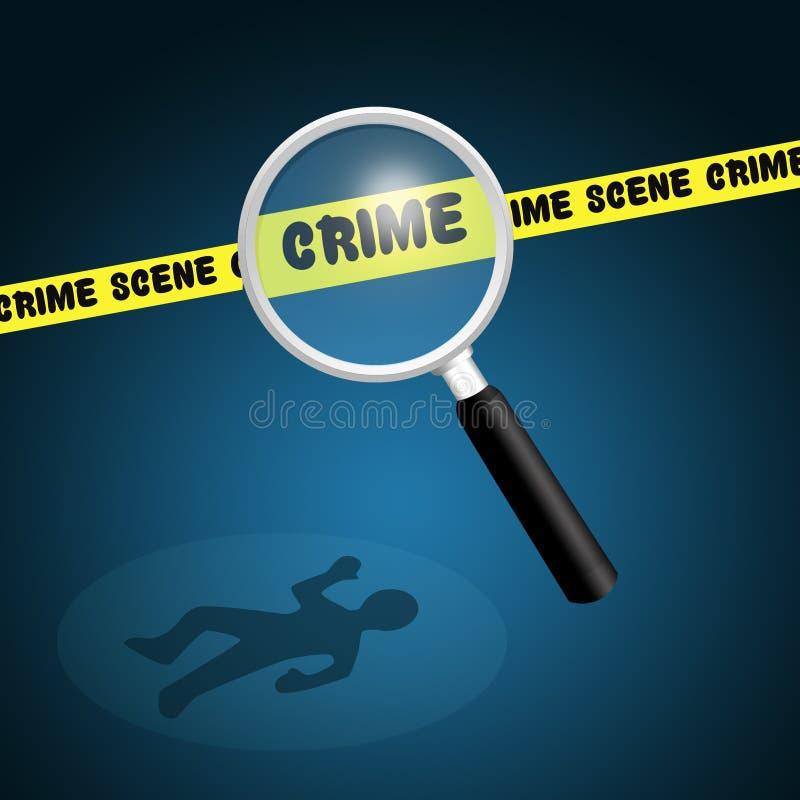 Иллюстрация места преступления иллюстрация вектора
