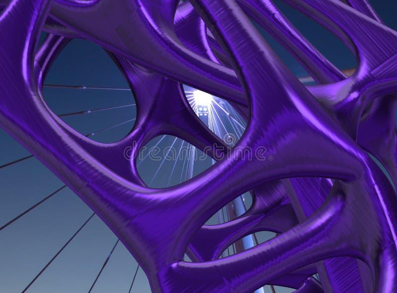 иллюстрация металла 3D структурная/представляет иллюстрация штока