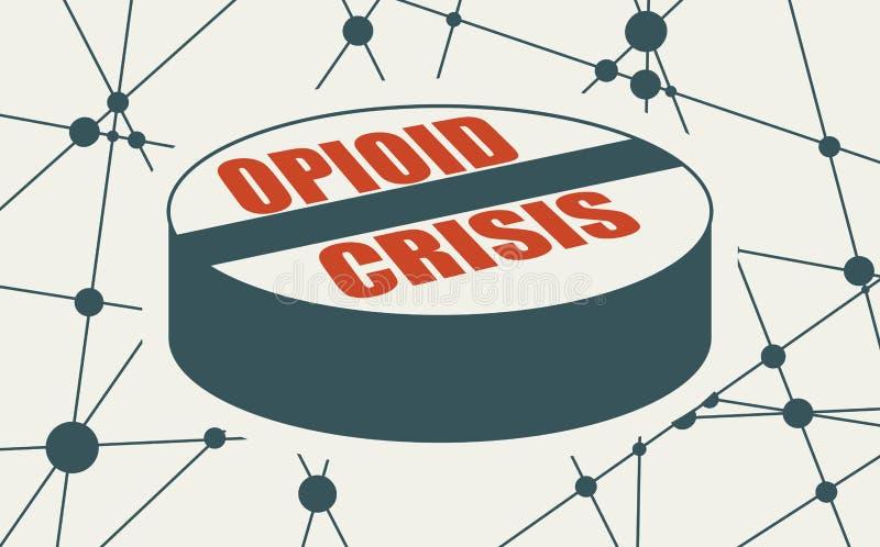 Иллюстрация метафоры наркомании бесплатная иллюстрация
