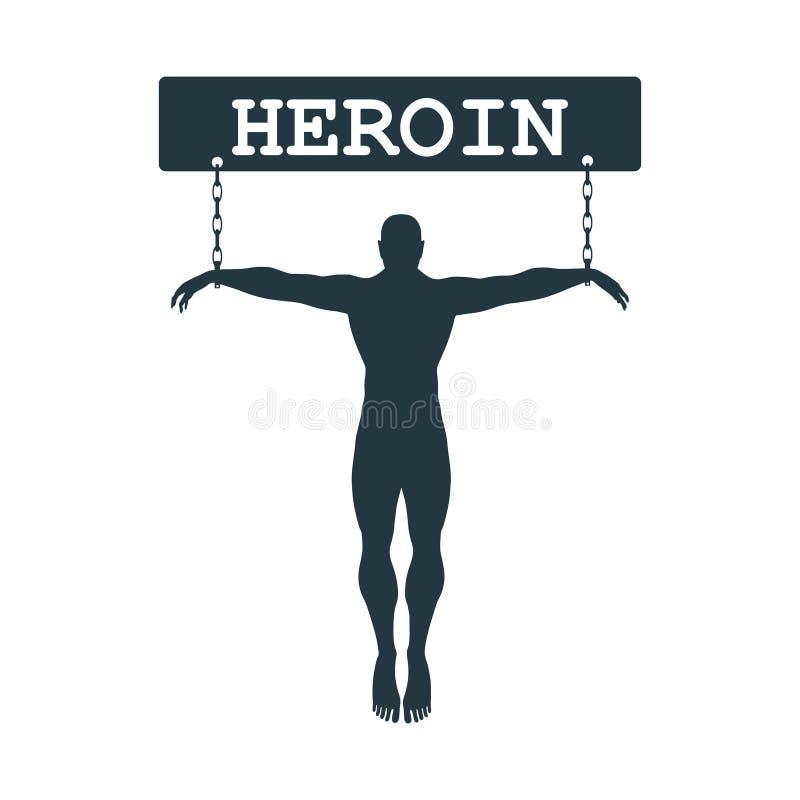 Иллюстрация метафоры наркомании иллюстрация штока