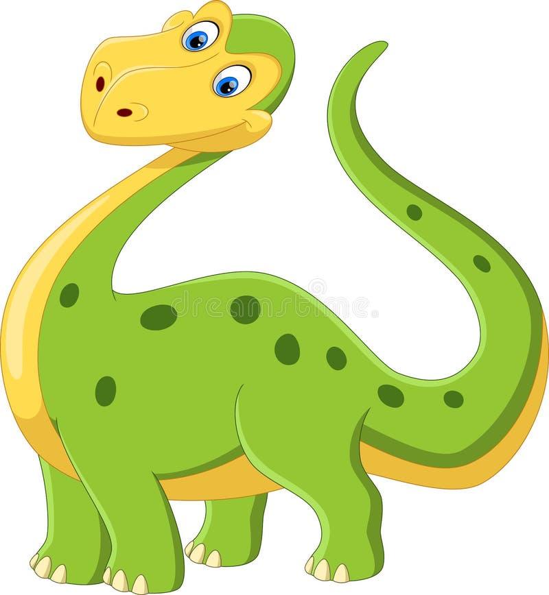 Иллюстрация милого и прелестного мультфильма динозавра стоковые изображения