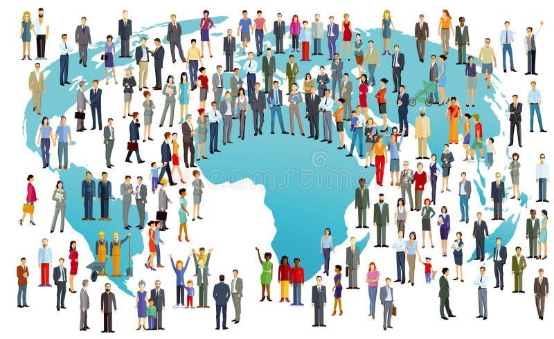 Иллюстрация мирового населения бесплатная иллюстрация