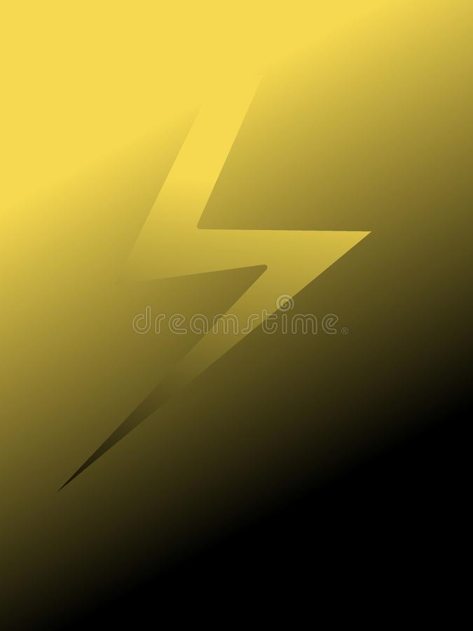 Иллюстрация молнии с предпосылкой стоковое фото rf