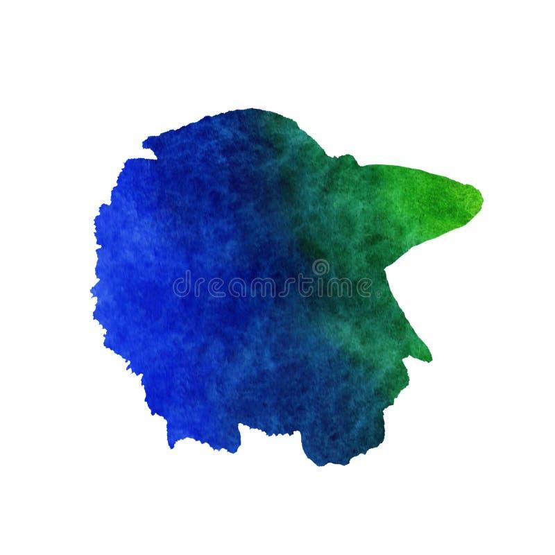 Иллюстрация моря лета акварели Покрашенные вручную воевать-рыбы радуги бесплатная иллюстрация