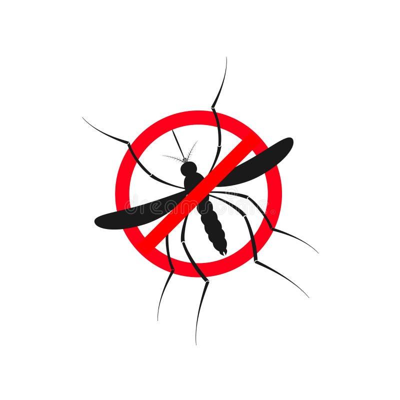 Иллюстрация москита Zika Сигнал тревоги вируса Zika Концепция вируса Zika Комариный укус вируса Zika Aedes Aegypti изолированное  иллюстрация вектора