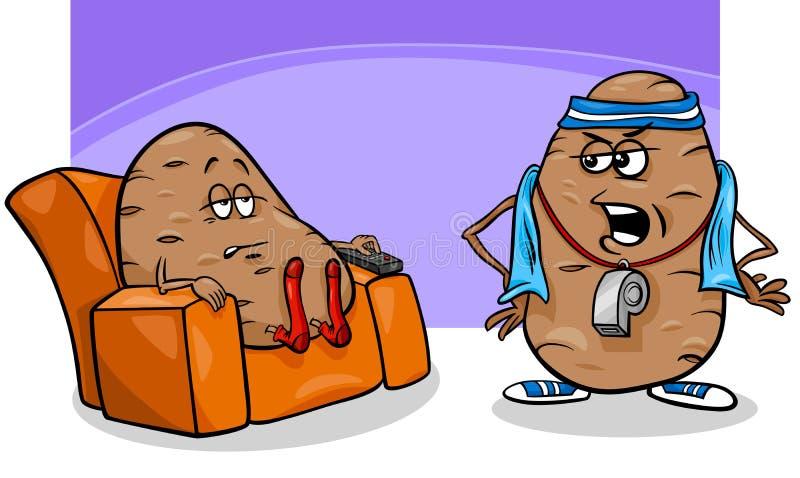 Иллюстрация мультфильма высказывания лентяя иллюстрация штока