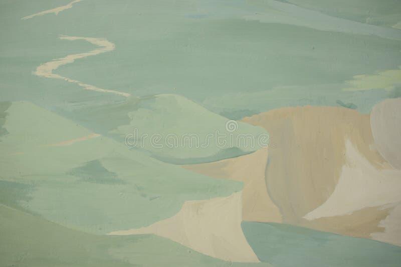 Иллюстрация мультфильма красивое сценарного с тропой к горизонту иллюстрация штока