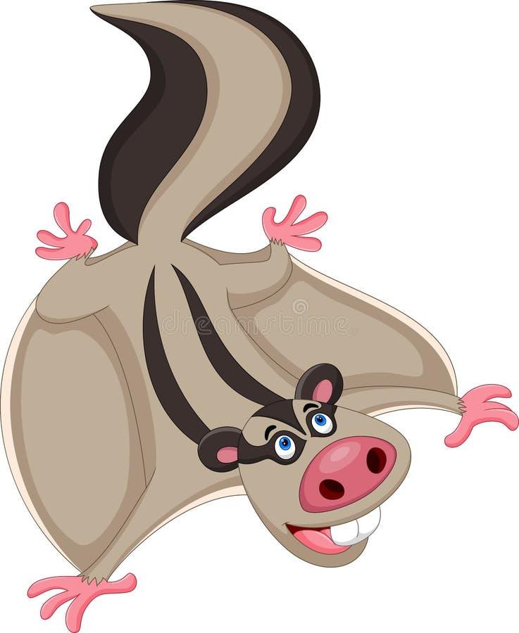 Иллюстрация мультфильма летяги стоковая фотография rf