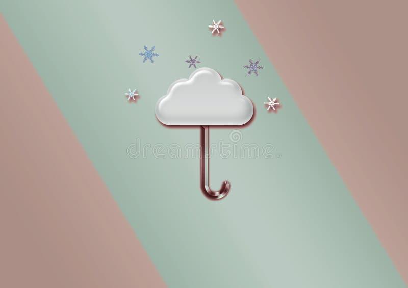 Иллюстрация облака зонтика, обои стоковые фотографии rf