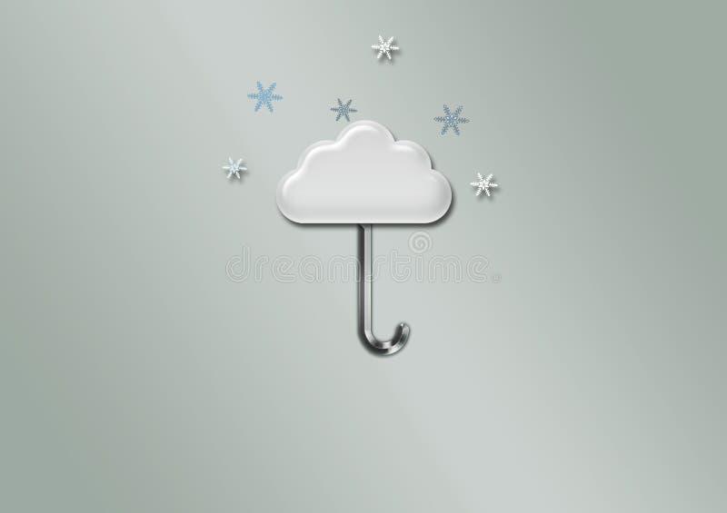 Иллюстрация облака зонтика, обои стоковое фото rf