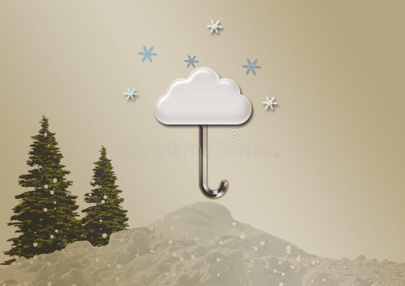 Иллюстрация облака зонтика, обои стоковое изображение rf
