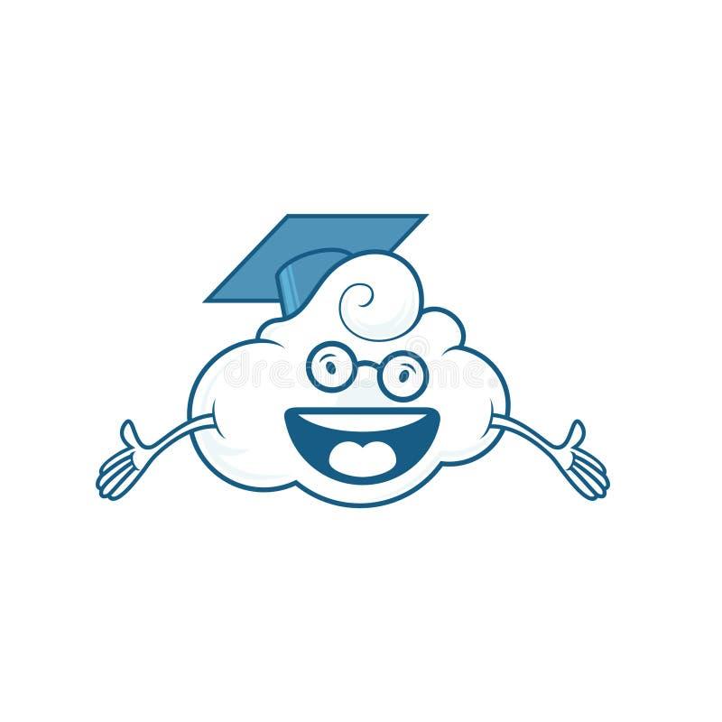 Иллюстрация облака и хороший для логотипов университета и логотипов интернета стоковое фото rf