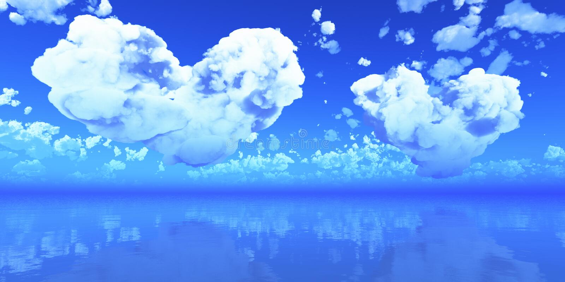 Иллюстрация облака сердец симпатичная в небе бесплатная иллюстрация
