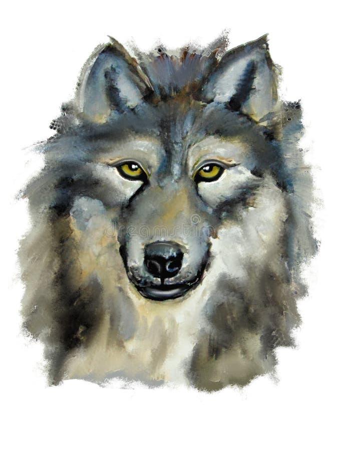 Иллюстрация одичалого волка стоковое фото