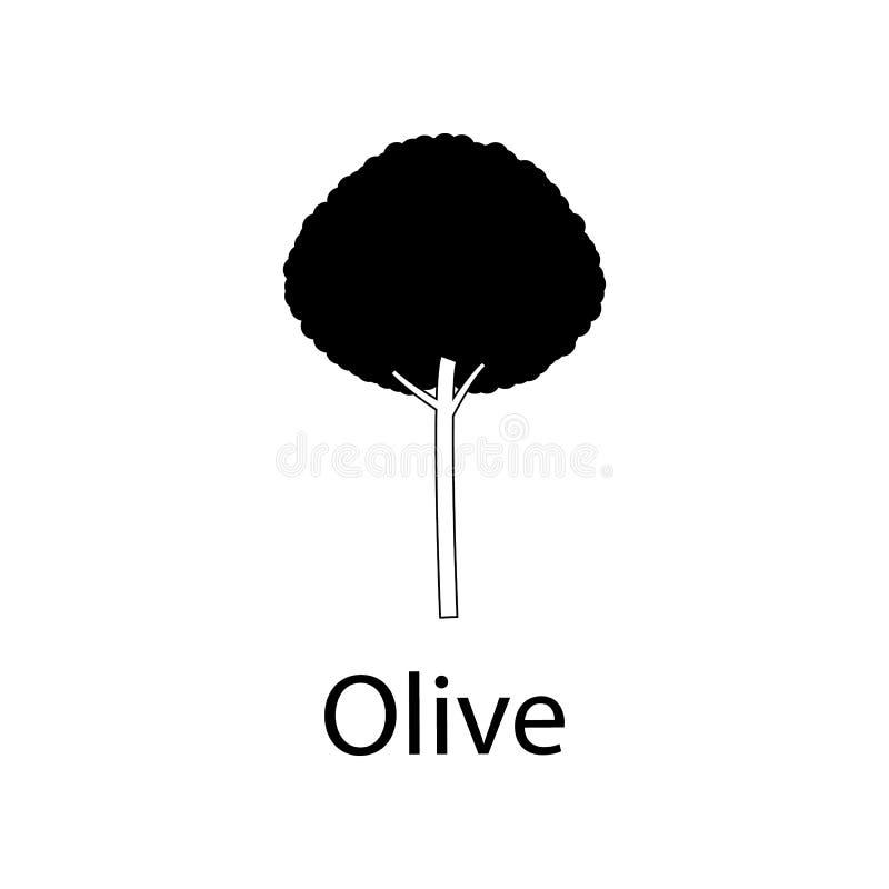 Иллюстрация оливкового дерева Элемент значка завода для передвижных apps концепции и сети Детальную иллюстрацию оливкового дерева бесплатная иллюстрация