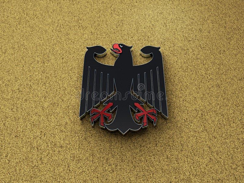 Иллюстрация орла 3D Deutschland немецкая стоковые изображения