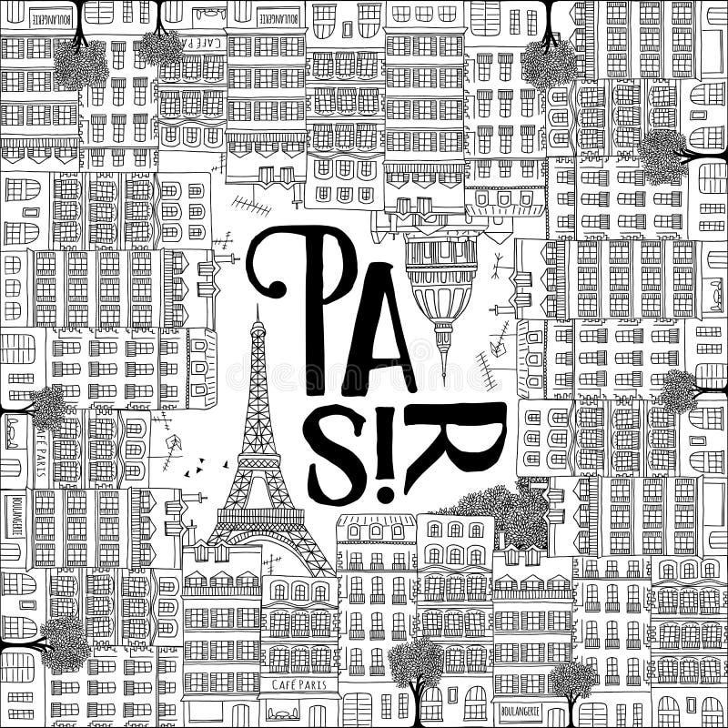 Иллюстрация Парижа иллюстрация вектора