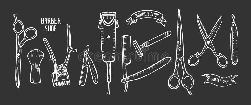 Иллюстрация парикмахерской иллюстрация штока