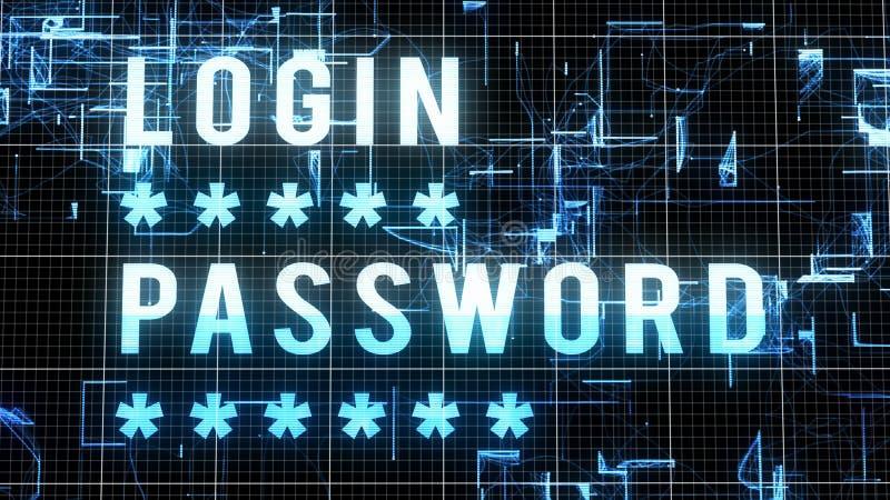 Иллюстрация пароля имени пользователя цифров бесплатная иллюстрация