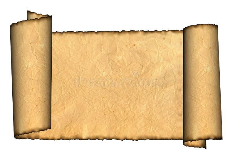 Иллюстрация пергамента сбора винограда свернутая grunge стоковые фото