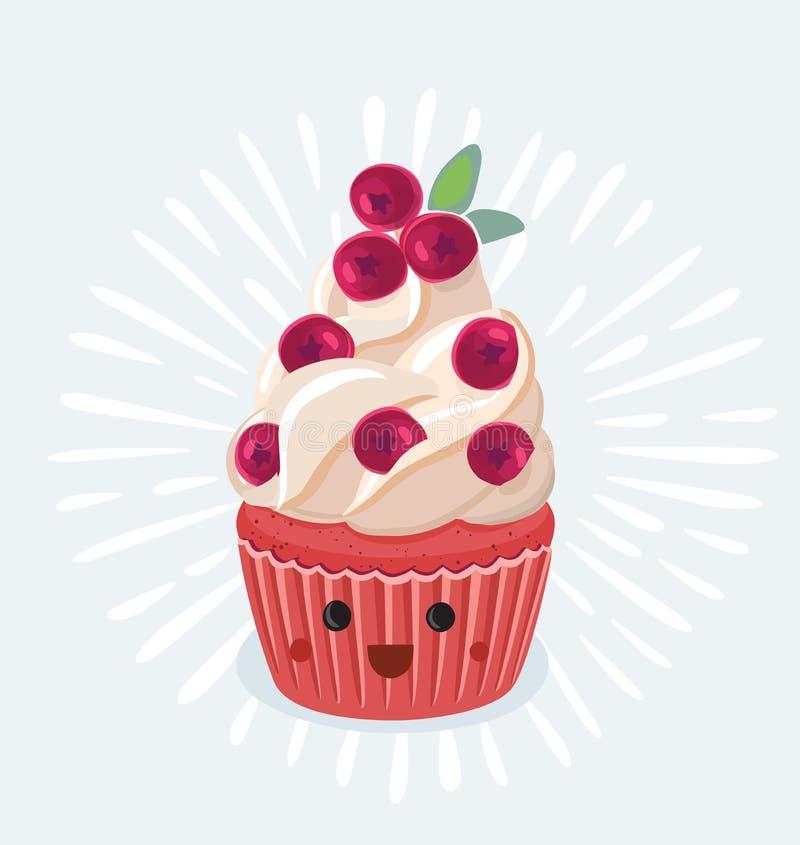 Иллюстрация пирожного на белой предпосылке бесплатная иллюстрация