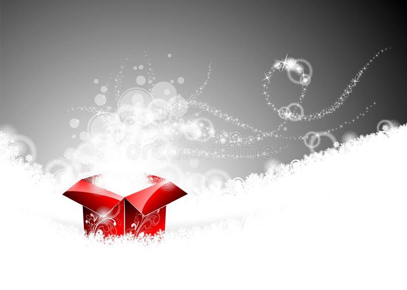 иллюстрация подарка рождества коробки иллюстрация штока