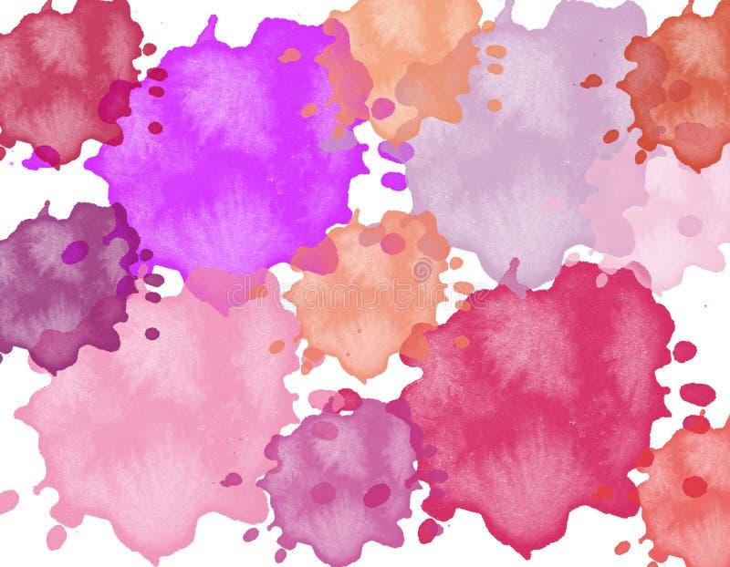 Иллюстрация покрашенного пинка, пурпура, желтого цвета, голубого кузнеца бесплатная иллюстрация